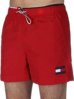Tommy Hilfiger Side Pocket Front Logo Drawstring Swim Shorts for Men