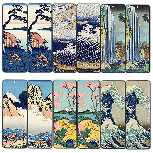 Katsushika Hokusai Japan Art Bookmarks (12-Pack)
