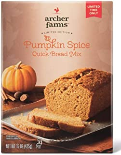 Archer Farms Pumpkin Spice Quick Bread Mix 15 Ounce! Classic Aromas Of Sweet Spiced Pumpkin Flavor Bread! Perfect For Homemade Mouthwatering Seasonal Treat!
