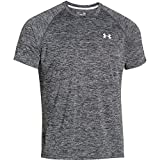 Under Armour Herren UA Tech Ss Fitness T-Shirt, Schwarz (Schwarz Heather), XXL - Under Armour