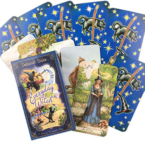 LPWCAWL Tarotkarten, Everyday Witch Tarot, Divination Destiny Kartenspiel, Brettspiel Karte für Erwachsene und Kinder, 78 Karten, Englische Version