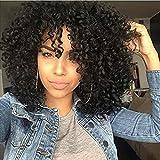 Ani · Lnc 40cm Synthétique Perruques Bouclés Afro Courtes Perruques Frisées Pour Les Femmes Noires (Noir)