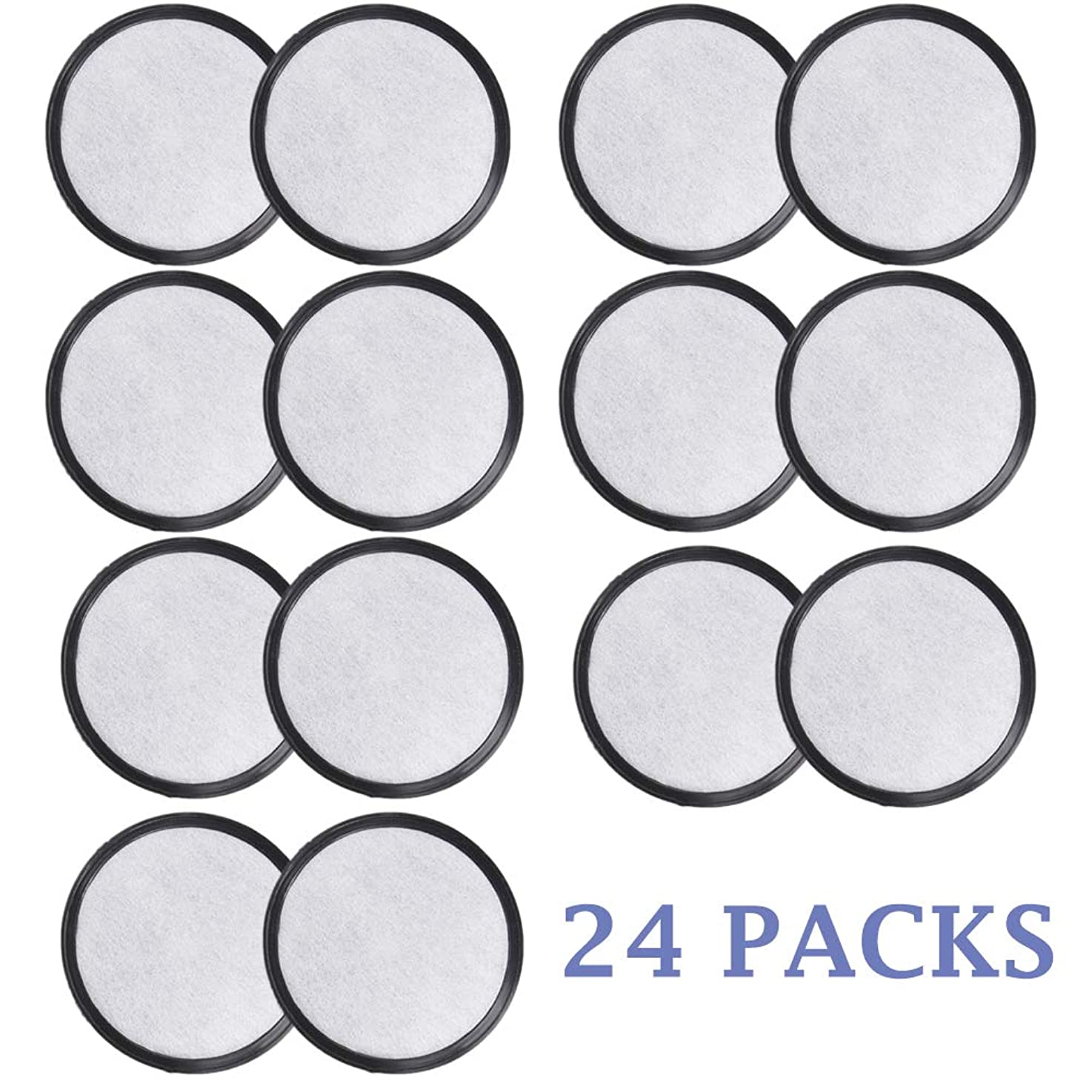 HiWater 24 Packs Compatible Replacement for Mr Coffee Charcoal Water Filters Discs compatible for Coffee Brewers Purifies Water Over 97% From Chlorine, Calcium, Odors & Other Impurities
