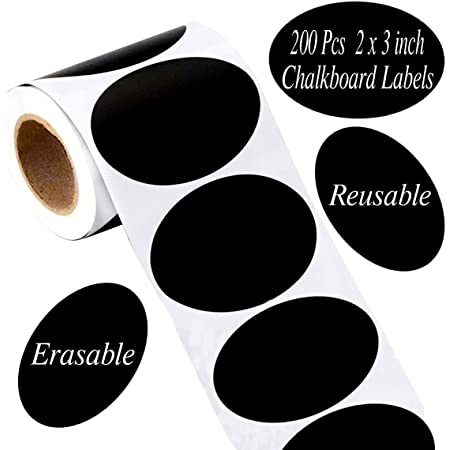 250Pcs//Roll Waterproof Chalkboard Stickers Kitchen Bottle Label Blackboard La OV