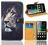 FoneExpert® Huawei G Play Mini / Honor 4C Handy Tasche, Wallet Hülle Flip Cover Hüllen Etui Ledertasche Lederhülle Premium Schutzhülle für Huawei G Play Mini / Honor 4C (Pattern 4)
