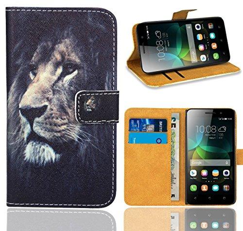Huawei G Play Mini/Honor 4C Handy Tasche, FoneExpert® Wallet Hülle Flip Cover Hüllen Etui Ledertasche Lederhülle Premium Schutzhülle für Huawei G Play Mini/Honor 4C (Pattern 4)