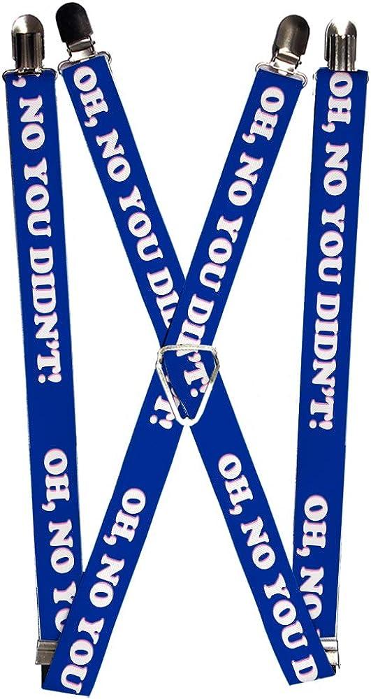Buckle-Down Men's Suspender-Oh No Quote, Multicolor, One Size