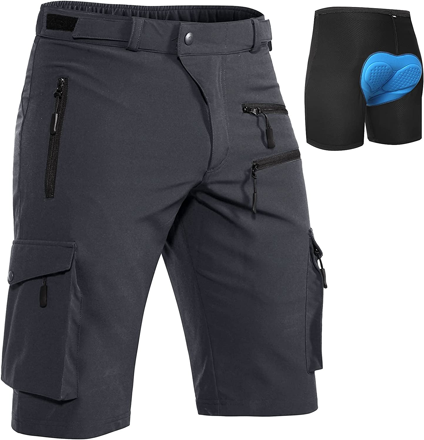 Directly managed Factory outlet store Hiauspor MTB-Shorts-Mens-Cycling-Shorts-Padded-Mountain-Bike-Sho