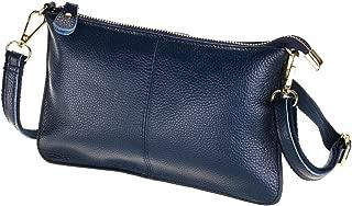 SEALINF Women's Cowhide Leather Clutch Handbag Small Shoulder Bag Purse