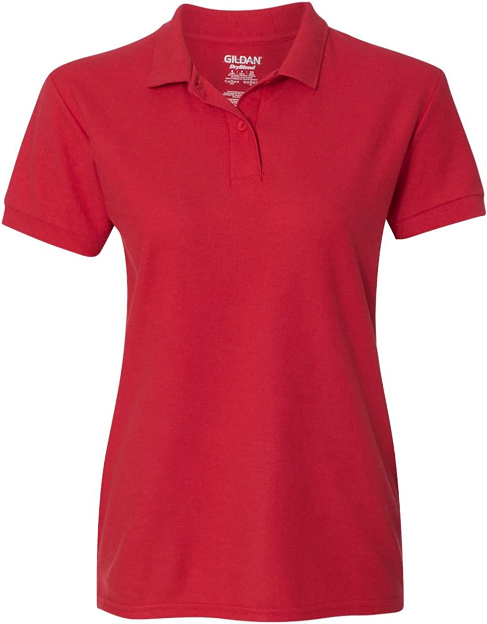 Gildan Womens DryBlend 6.3 oz. Double Piqu? Sport Shirt (G728L) -RED -L