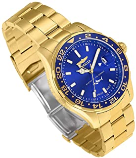 Invicta Men's 'Pro Diver' Quartz Stainless Steel Casual Watch, Color Gold-Toned (Model: 25823)