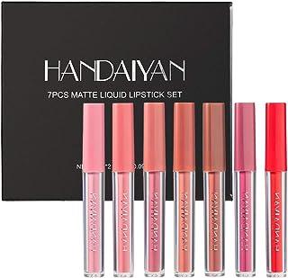 ARTIFUN 7 Colors Matte Lipgloss Set Matte Liquid Long-Lasting Wear Non-Stick Cup Not Fade...
