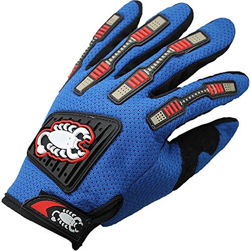 Angenehm auf der Haut einen.Kreislauf.durchmachenhandschuh Mountain Bike Handschuhe Road Racing Fahrrad-Handschuhe Reithandschuhe Geeignet für eine Vielzahl von Anlässen ( Color : Blue , Size : M )
