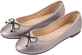 CREPUSCOLO Women's Sparkle Glitter Flats Classic Bowknot Ballet Flat Sandals Comfy Fashion Round Toe Walking Shoes
