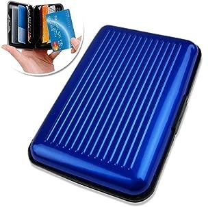Aluminium Card Case | Aluminum PP RFID Blocking Credit Card Wallet Safe Holder Electronic Scan Theft Protector | Slim Stylish Design | Lightweight Sturdy Pocket Passport Unisex Travel Wallet | 1219.2