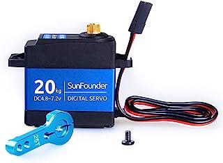 SunFounder 20KG Servo Motor Waterproof High Torque Servo, SF3218MG Metal Gear Digital..