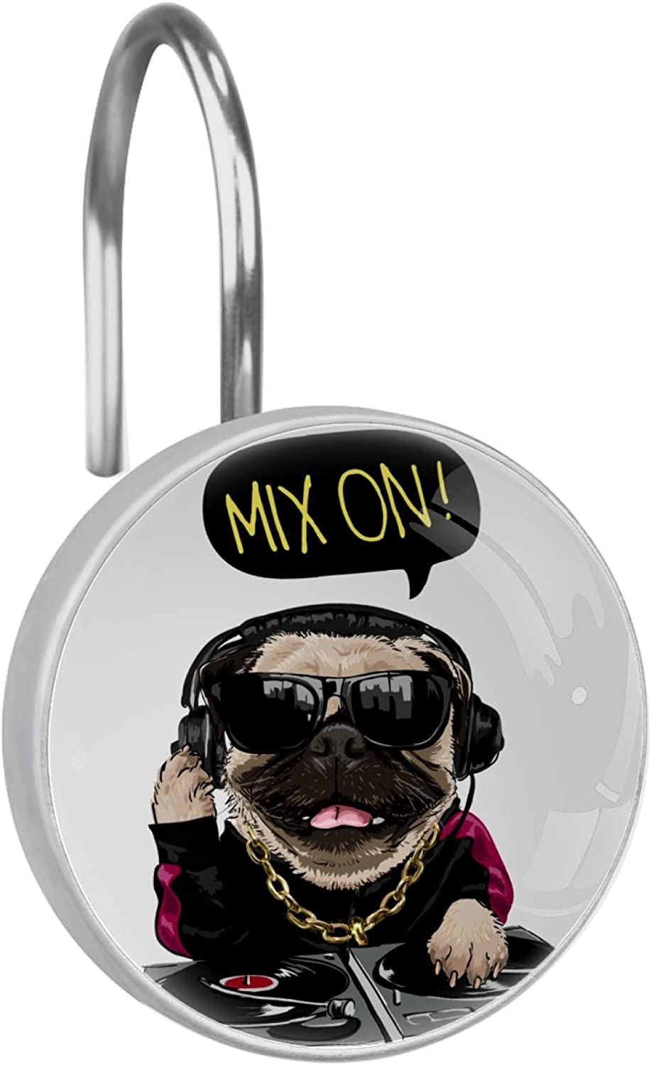 Cartoon Pug Dog in Sunglasses and Piece Clearance SALE Limited time shopping Illustration12 Headphone