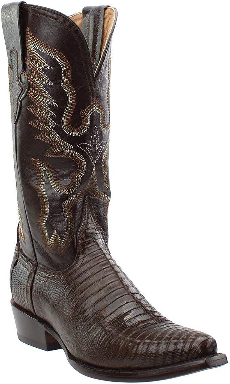 Ferrini Western Boots Womens Cowboy Teju Lizard Exotic Black 81161-04