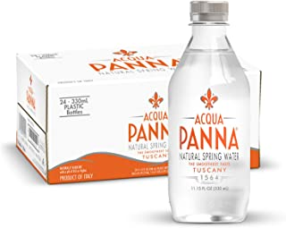 Acqua Panna Natural Spring Water, 11.15 Fl. Oz. Plastic Bottles, Pack of 24
