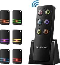 Key Finder, Wireless RF Item Locator Item Tracker Support Remote Control,1 RF Transmitter and 6 Receivers - Wireless Key RF Locator, Pet Tracker Wallet Tracker for Car Keys Pets Purse