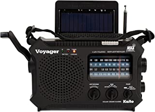 Kaito KA500L 4-Way Powered Emergency AM/FM/SW NOAA Weather Alert Radio with Solar,Dynamo Crank,Flashlight and Reading Lamp...