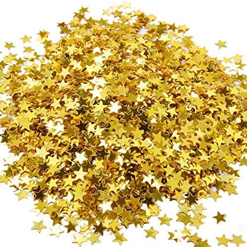 litty089 gouden ster Confetti tafel metallic folie pailletten gooien bloemblaadjes nagel kunst voor partij bruiloft decoratie gereedschap - goud goud