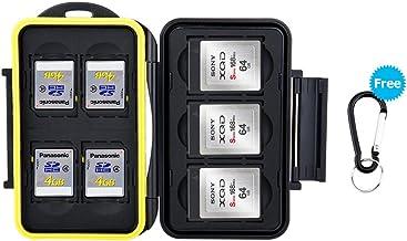 JJC Feste wasserdicht Speicherkarten Schutzhülle für 4 SDXC SDHC SD-Karten und 3 XQD/CFexpress Typ B Speicherkarte mit Kar...