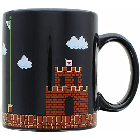 Super Mario Collectibles   Super Mario 8-Bit Boss Black Ceramic Coffee Mug
