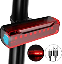 CS Force Bike Tail Light USB Rechargeable LED Bicycle Rear Light Cycling Safety Flashlight, Water Resistant, for Helmet Cycling Safety Light