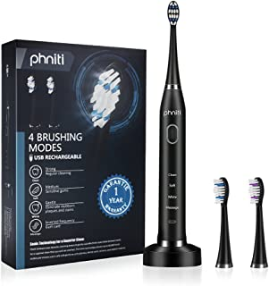 Sonic Electric Toothbrush for Adults with Wireless...