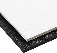 Source One Premium 1/8 Inches Black or White Textured ABS Acrylic Plexi Sheet (24 x 24, Black)