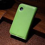LD Hülle A000202 Bezug Leder-Erscheinungsbild, mit Kartenschlitzen für Wiko Ozzy, grün
