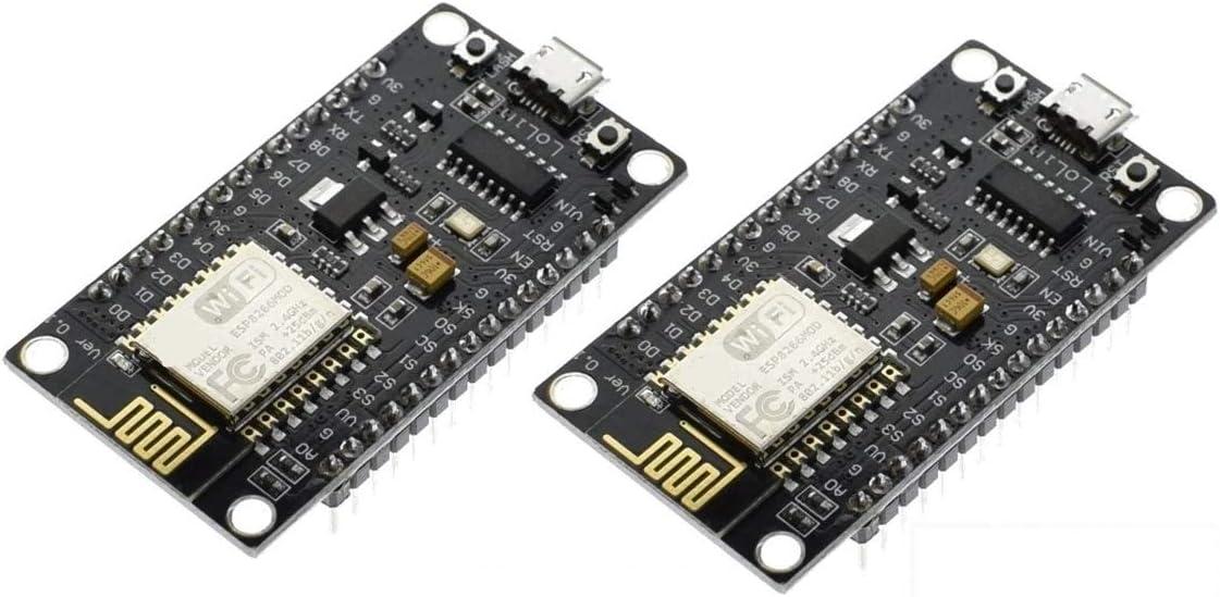 2pcs NodeMcu WeMos WiFi Wireless Module CH340 Development Board ESP8266 ESP12E
