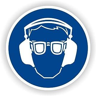 Augen- und Gehörschutz benutzen / Gebotszeichen / GE-23 / Sicherheitszeichen / Piktogramme / DIN EN ISO 7010 5cm