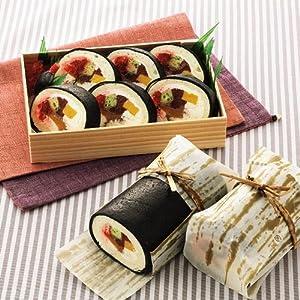 【そっくりスイーツ】お寿司みたいなロールケーキセット