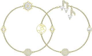 Swarovski 5512383 Gold-tone Plated Remix Collection Strand Set Women's Bracelets