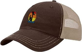 Custom Trucker Hat Richardson Lineman Occupation B Embroidery Design Cotton