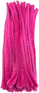 Saim 200Pcs Rose Pink Colored Pipe Cleaners Chenille Stems 12 for Creative Handmade Arts and Crafts