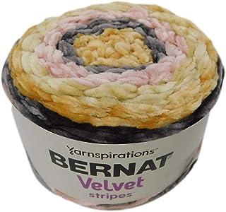 Bernat Velvet Stripes Yarn 10.5 Ounces 315 Yards (Morning Kiss)