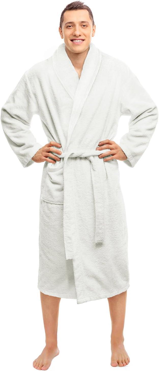 BLUENILEMILLS Hotel Spa White Outlet ☆ Free Shipping Finally resale start Robe Long-St Terry Plush Weave