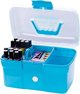 Xuanhemen Hand-held Desktop Storage Box Plastic Scissors Makeup Organizer Jewelry Nail Polish Pen Container Manicure Tool Case