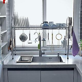 DJSMsnj Rangement de cuisine en acier inoxydable 304 - Égouttoir d'évier de cuisine - Étagères de rangement pour ustensile...