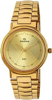 Maxima Analog Yellow Dial Men's Watch - 26771CMGY