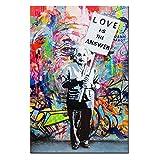 DINGDONGART Dingdong Kunst-gerahmt Einstein Poster Love ist