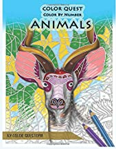 Color Quest Color by Number Animals: Jumbo Adult Coloring Book for Stress Relief (Fun Adult Color By Number Coloring)