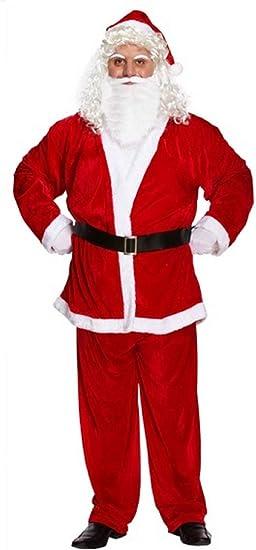New Men/'s Father Christmas Costume 4 Piece Santa Claus Suit Xmas Outfit Size M