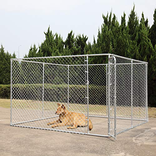 """COZIWOW Dog Playpen with Door, 4 Panel Pet Playpen for Large and Small Dogs, Portable Freestanding Dog Exercise Pens, Metal Dog Playpen Indoor & Outdoor,118""""x 72"""""""