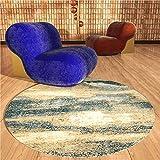 WJW-DT Alfombras Redondas de Estilo Abstracto Simple para la Sala de Estar Alfombrillas de Entrada Alfombrillas de Piano, alfombras de área Grande Diámetro 80100120140160200300-140 CM-55 Pulgadas