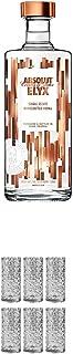 Absolut Elyx Vodka 1,00 Liter  9 Mile Highball Vodka Glas 6 Stück