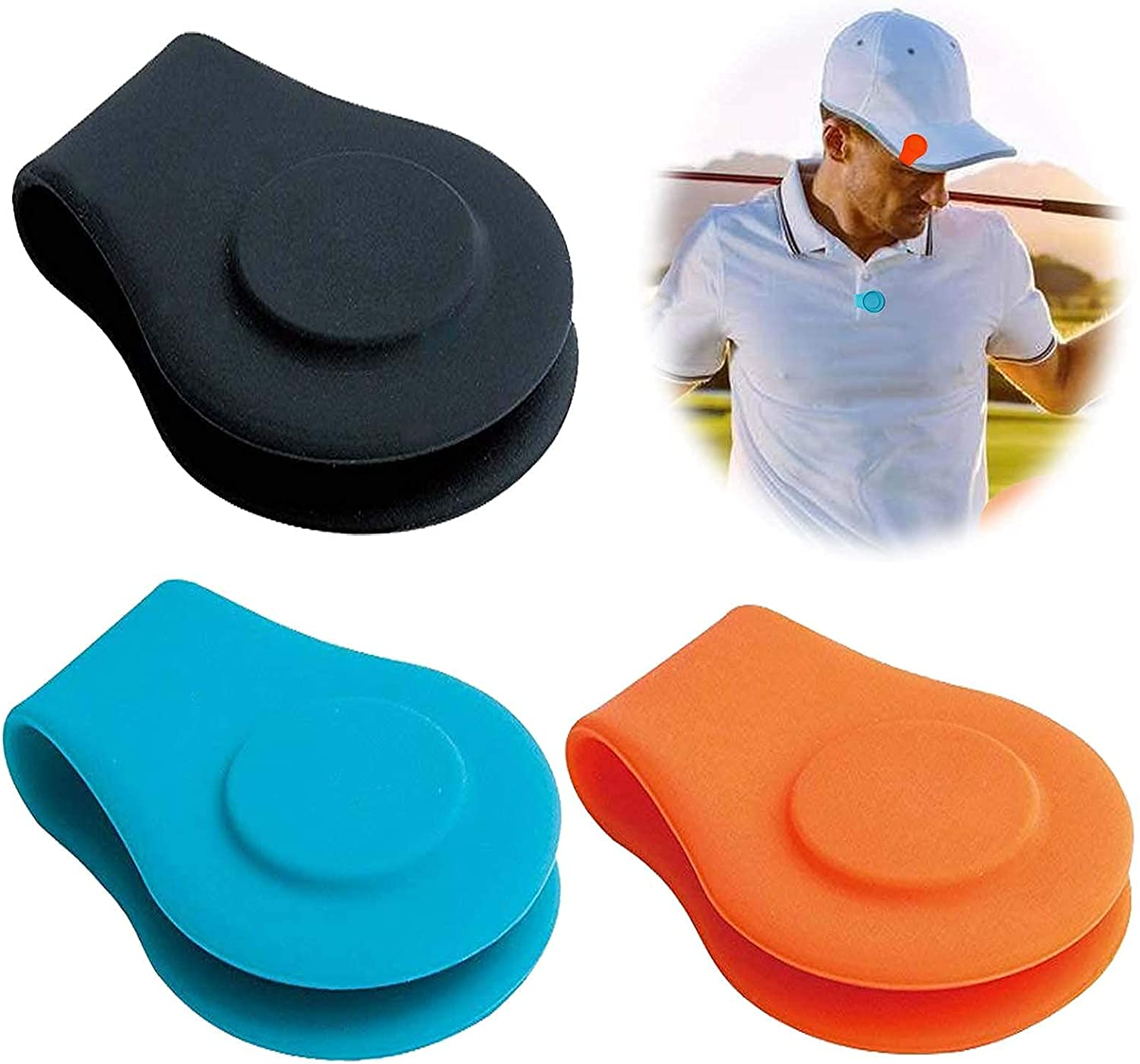 FINGER TEN Golf Ball Marker Hat Clip 3 Magnetic Pac Value 6 Atlanta Mall 12 9 Cheap mail order specialty store